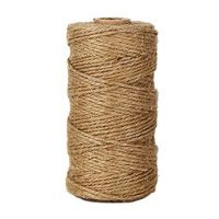 KINGLAKE 300 Feet Natural Jute Twine Best Arts Crafts Gift Twine Christmas Twine Durable Packing String for Gardening Applications