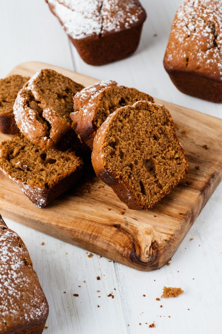 Mini Spiced Gingerbread Loaves