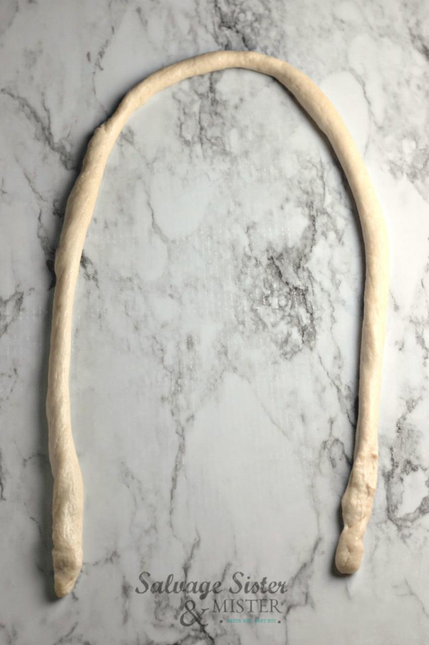 rope for homemade pretzels on salvagesisterandmister.com