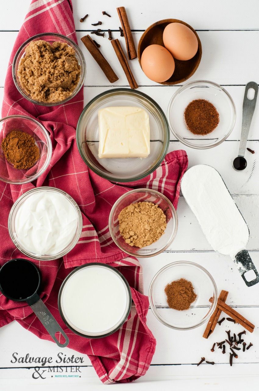 mini spiced gingerbread loaves ingredients