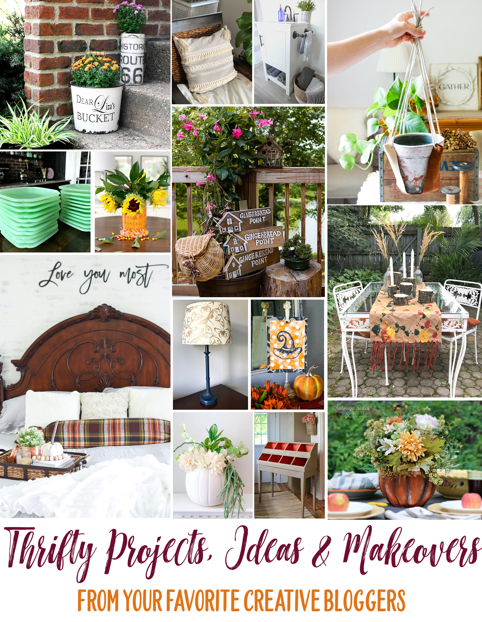 Thrifty Style Team budget friendly projects for the home. Check out these DIY and crafts plus tips and tricks including many fall projects.