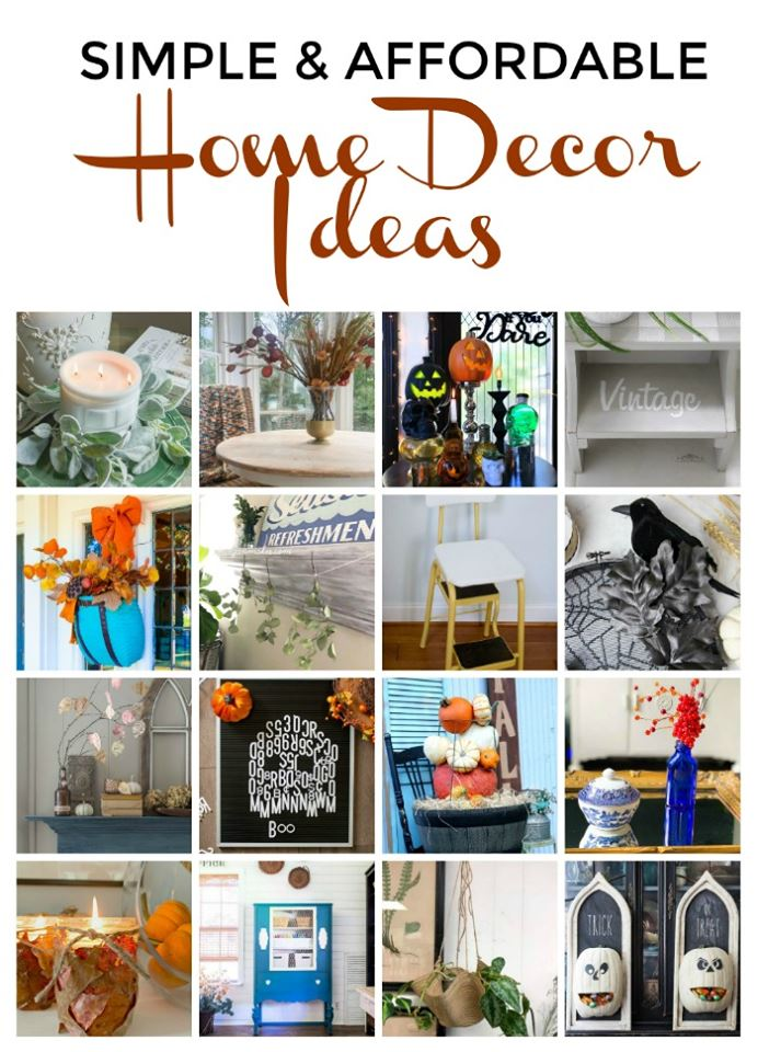 The Thrifty Style Team in back with simple and affordable home decor ideas. Perfect for fall decorating. Budget friendly and easy to make. Check out all the bloggers ideas for your home inspiration on a budget or to reuse thrift store finds in a new way.