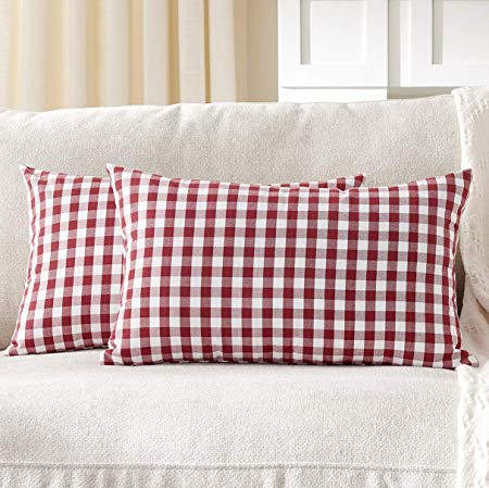 Gingham Throw Pillow Covers