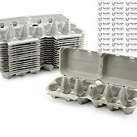 Half Dozen Egg Cartons (30-Pack); Split Apart Style for 6 Egg or 12 Egg Use; Holds 180 Eggs Total