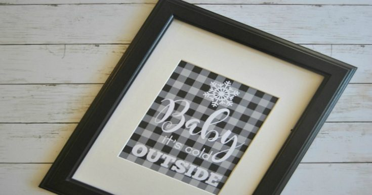 Free Printable Buffalo Plaid Holiday Home Decor Prints