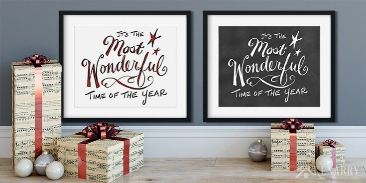 Most Wonderful Time of the Year: Christmas Printables