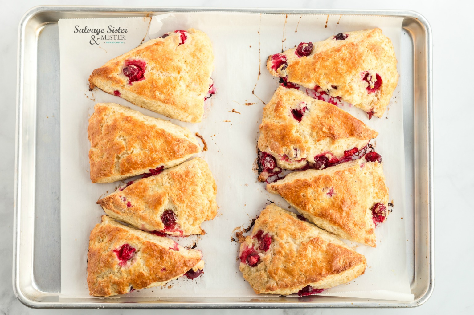 cranberry lemon scone recipe on salvagesisterandmister.com