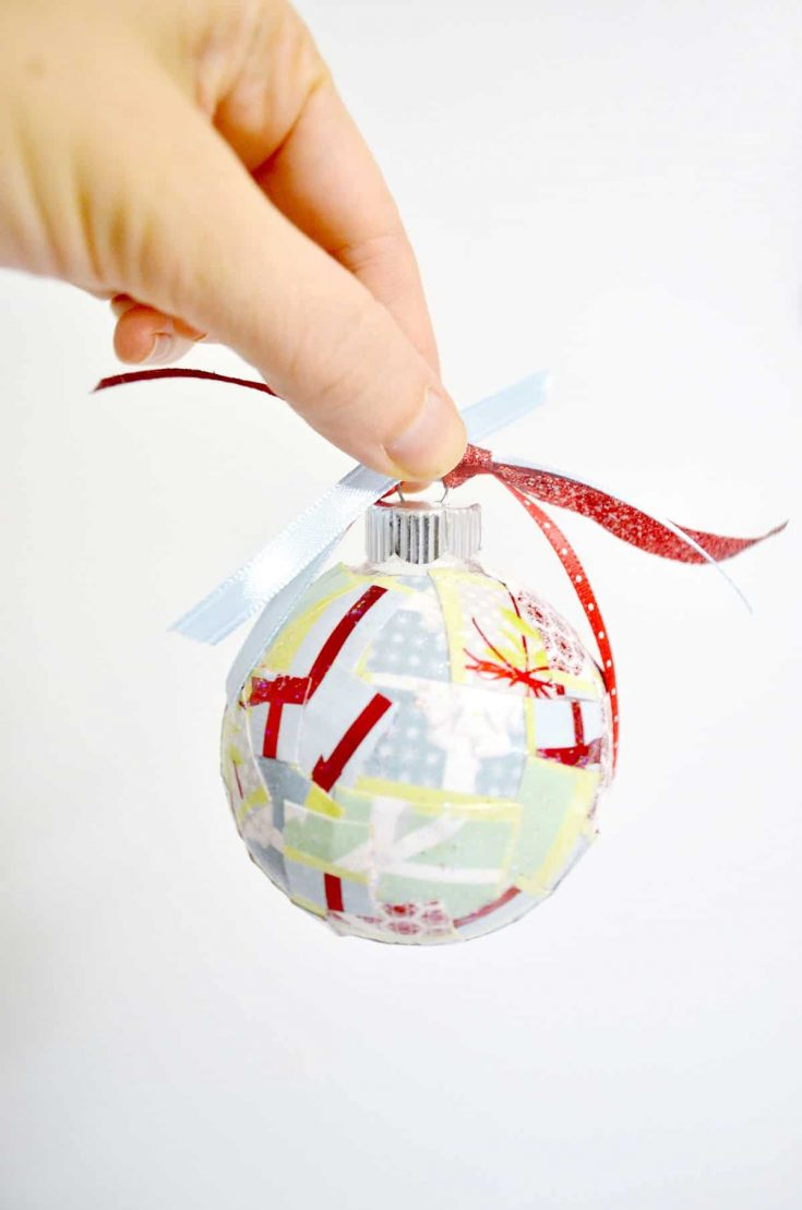Easy Paper Scrap DIY Christmas Ornaments
