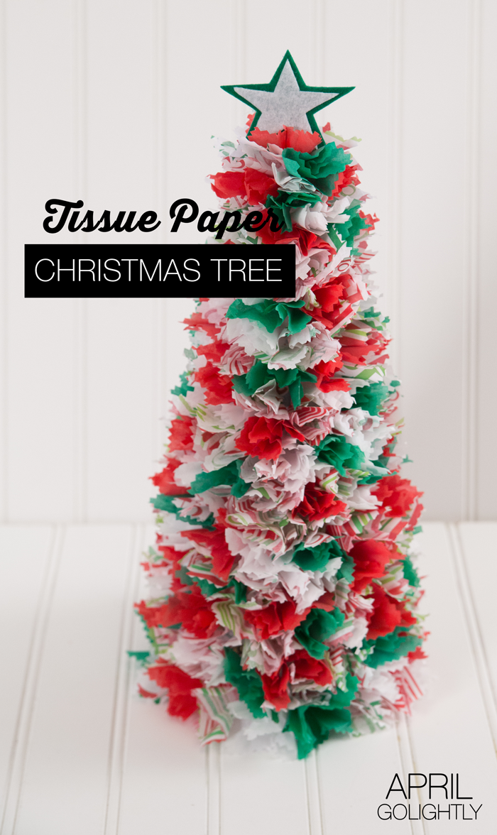 Tissue Paper Christmas Trees