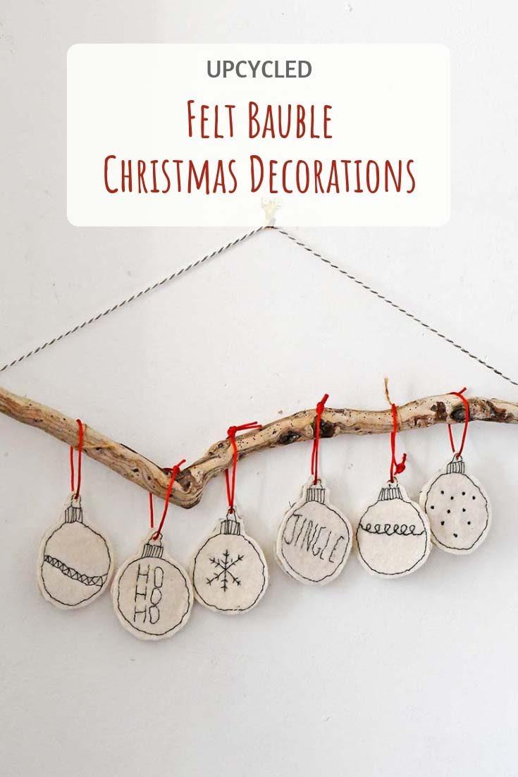 Unique Easy To Make Handmade Felt Christmas Ornaments