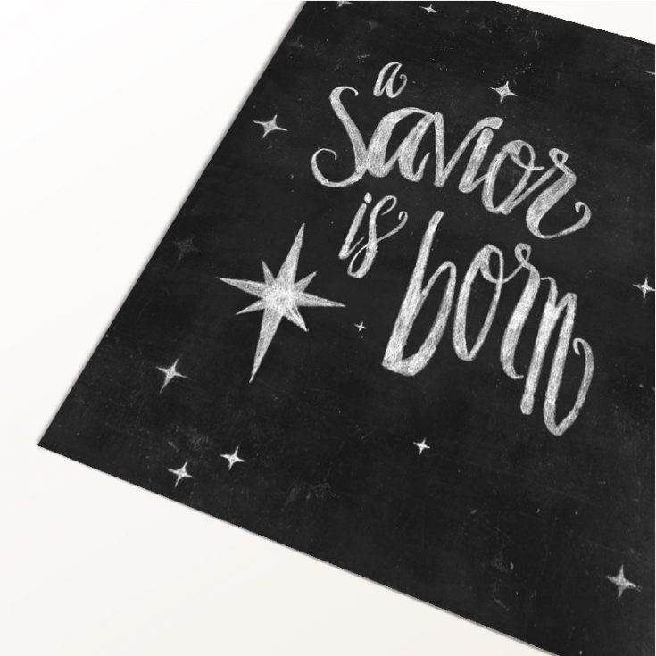 A Christmas Free Printable That Will Remind You Of The True Meaning of Xmas
