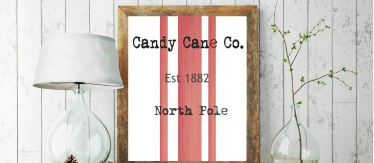 Candy Cane Co. Printable | Free Christmas Printable