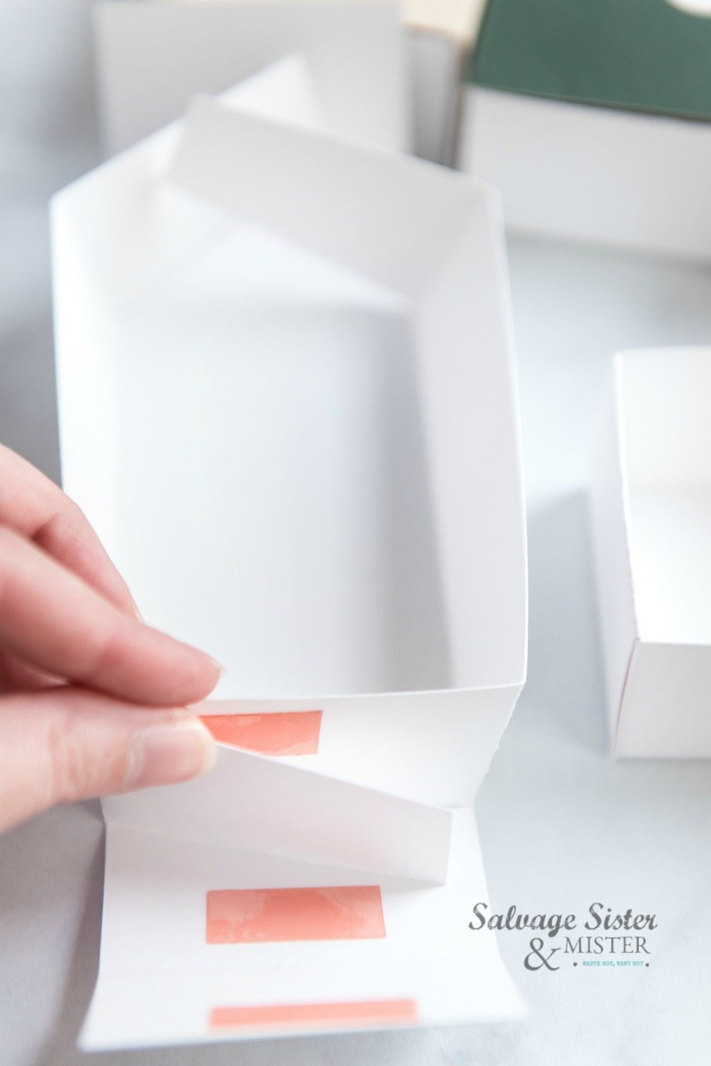 creating a cricut treat box instructions on salvagesisterandmister.com