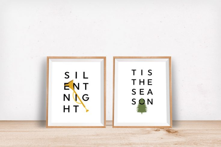 These FREE Christmas Prints Will Make Your Home Festive & Bright