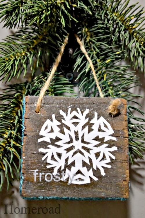 Easy Rustic Snowflake Ornaments