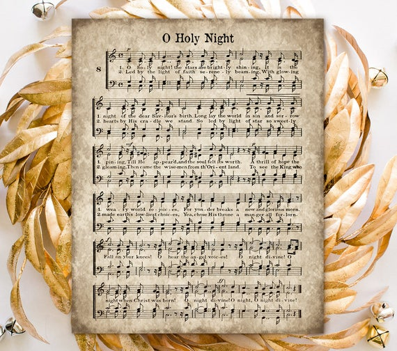 O Holy Night, Printable Christmas Hymn