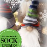 how to make a no sew gnome instructions featured on salvagesisterandmister.com. This easy project is also an inexpensive way to reuse socks as well.