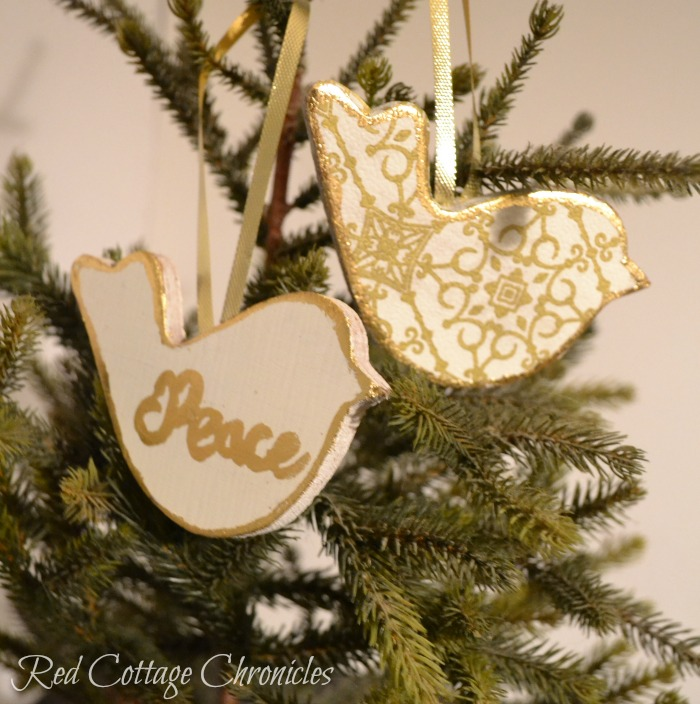 Two Turtle Doves DIY Christmas Ornament Tutorial