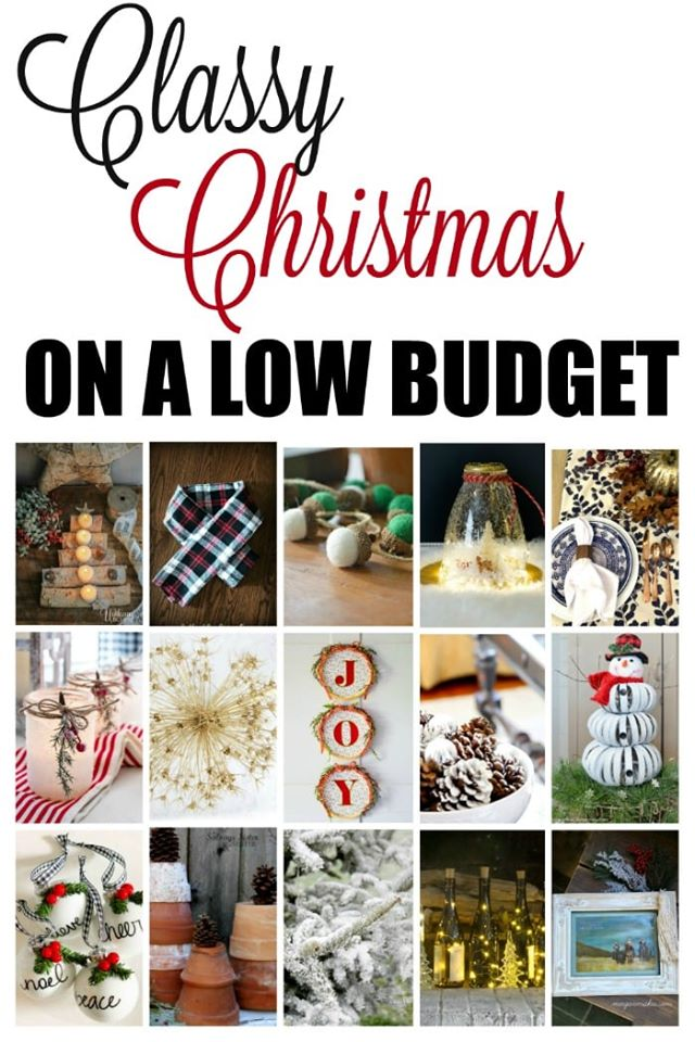 Classy Christmas on a low budget - budget holiday decor ideas (diy, crafts, etc)