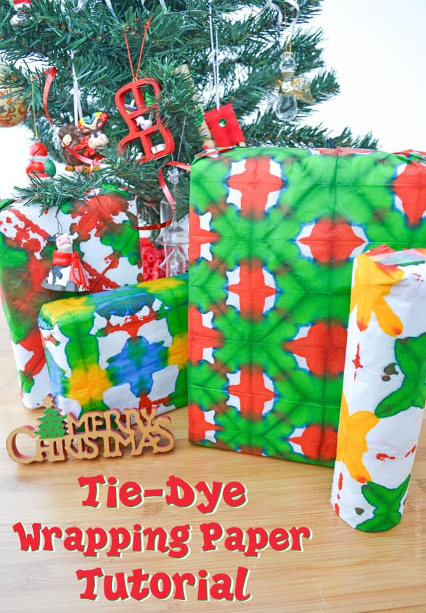 Tie-Dye Wrapping Paper