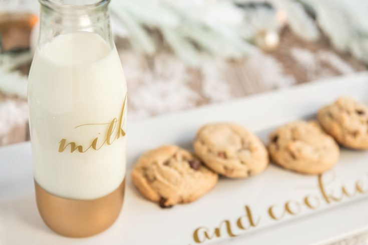 SVG Milk and Cookie Plate For Santa
