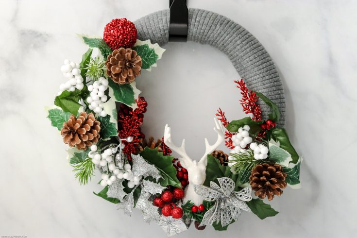 Sweater Wreath with Deer