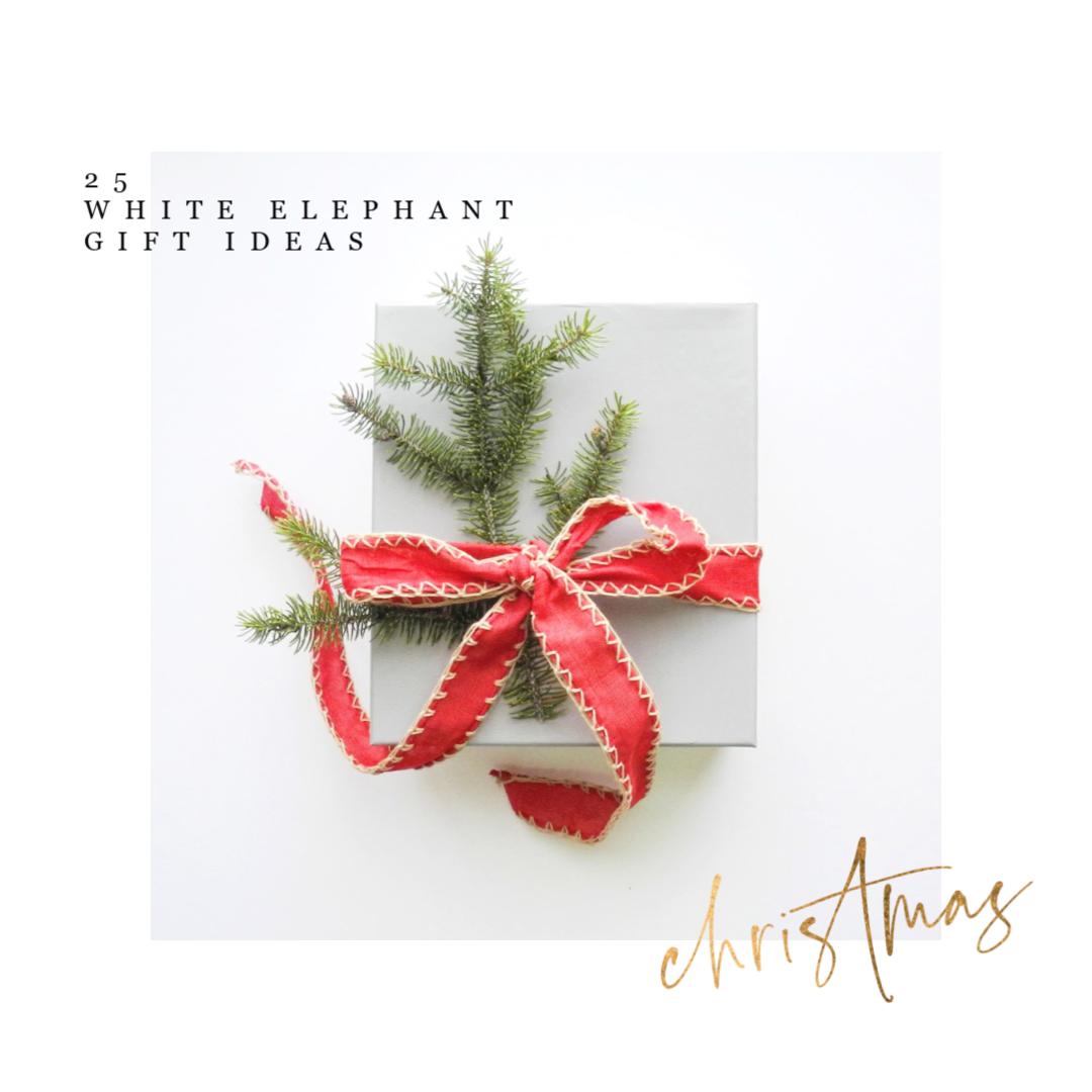 25 white elephant gift ideas or stocking stuffers on salvagesisterandmister.com