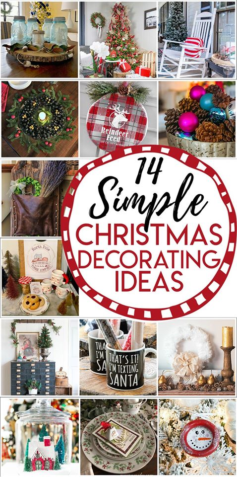 14 hsimple Christmas decorating ideas from the thrifty style team . Great for the budget minded. You don't have to spend a lot to have a festive home. Get these ideas on savlagessterandmister.com