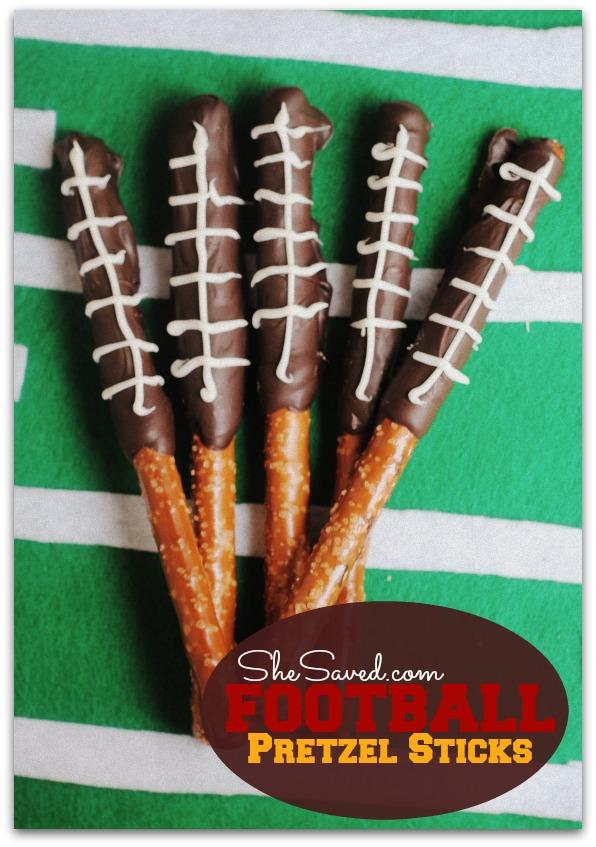 Football Pretzel Sticks