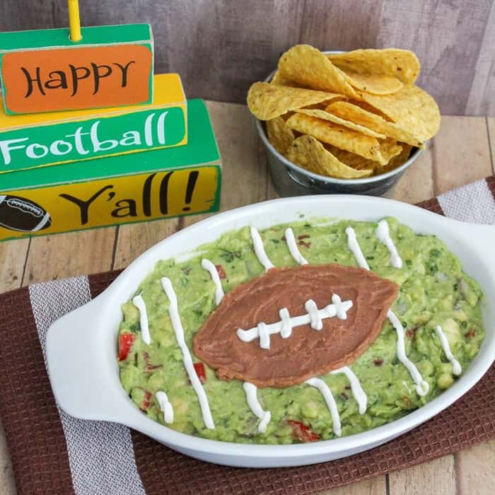 Easy Guacamole Football Recipe