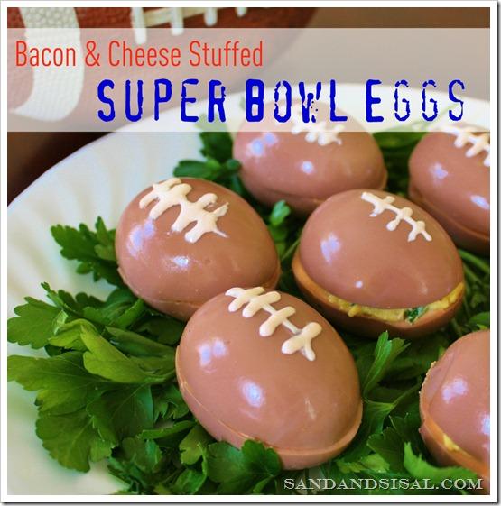 Super Bowl Eggs – Bacon & Cheese Stuffed