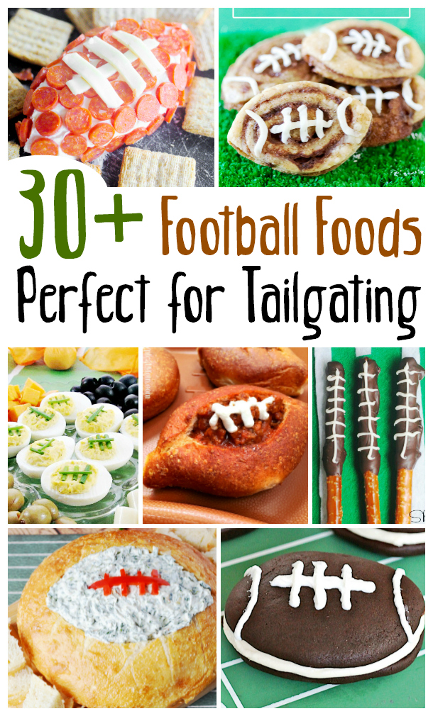 Are you ready for some football? No matter if you are tailgatting, throwing a game day party, or hosting a local team event these football-shaped foods are sure to be a TOUCHDOWN! Easy appetizers, big game desserts, and football meals are just a little twist on some of your favorite party foods. So go long and throw this big pass into the end zone with these recipes on salvagesisterandmister.com where you can make the most wtih what you got!