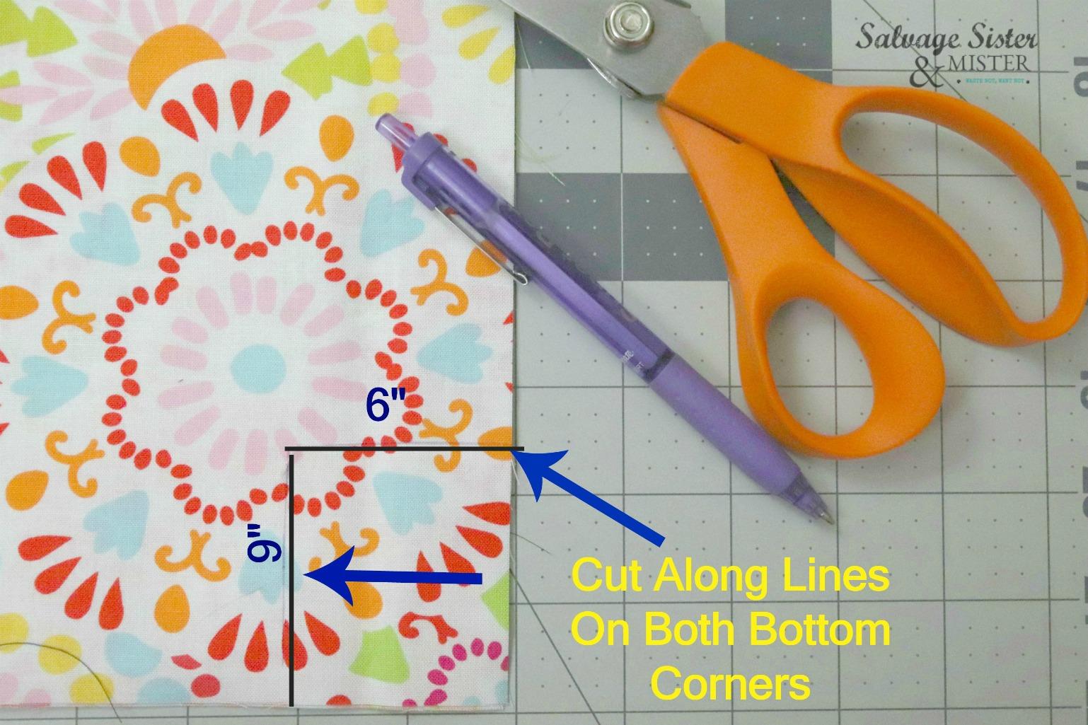 sewing tutorial on salvagesisterandmister.com