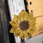 Make a flower from a box - diy cardboard sunflower is a great upcycle or reuse project. This craft is great for home decor or parties. Make them with friends or a fun teen craft too. Get the full tutorial on salvagesisterandmister.com