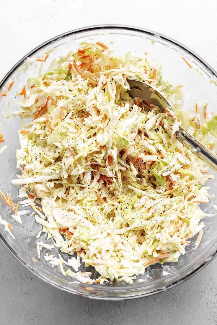 Keto Coleslaw – 4 Ingredients!