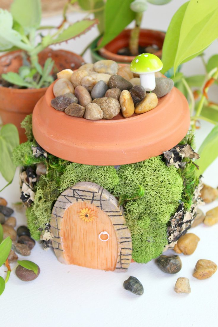 supplies for a terracotta fairy garden house on salvagesisterandmister.com