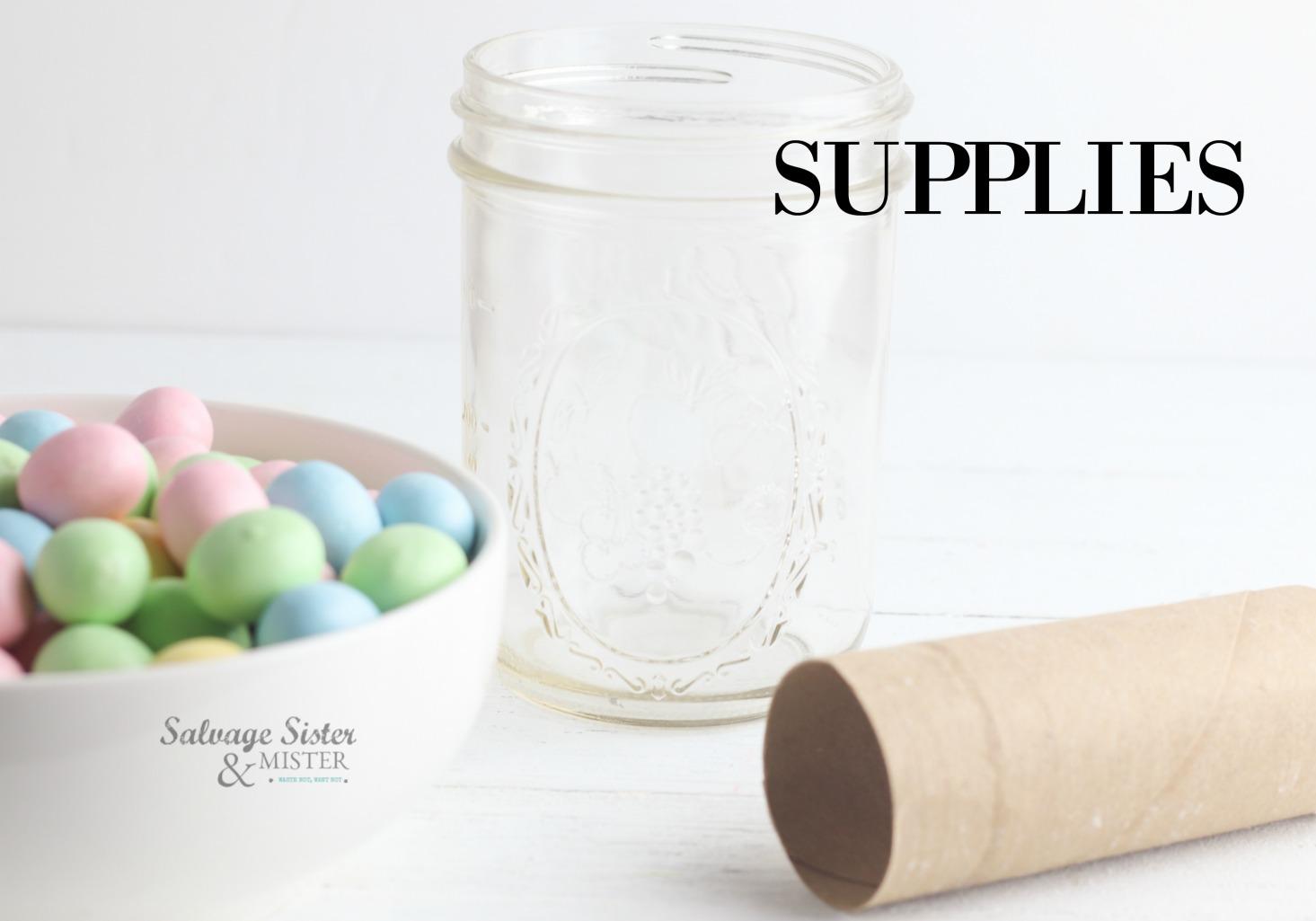 mason jar Easter craft on salvagesisterandmister.com