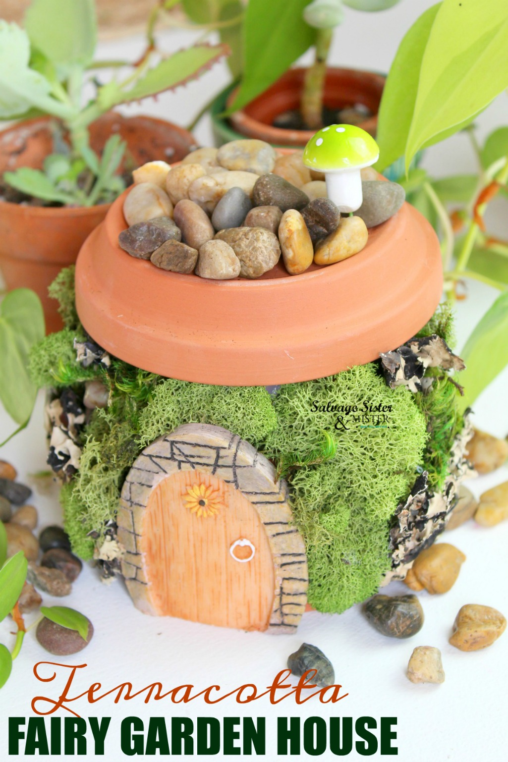 Terracotta Fairy Garden House Salvage Sister And Mister