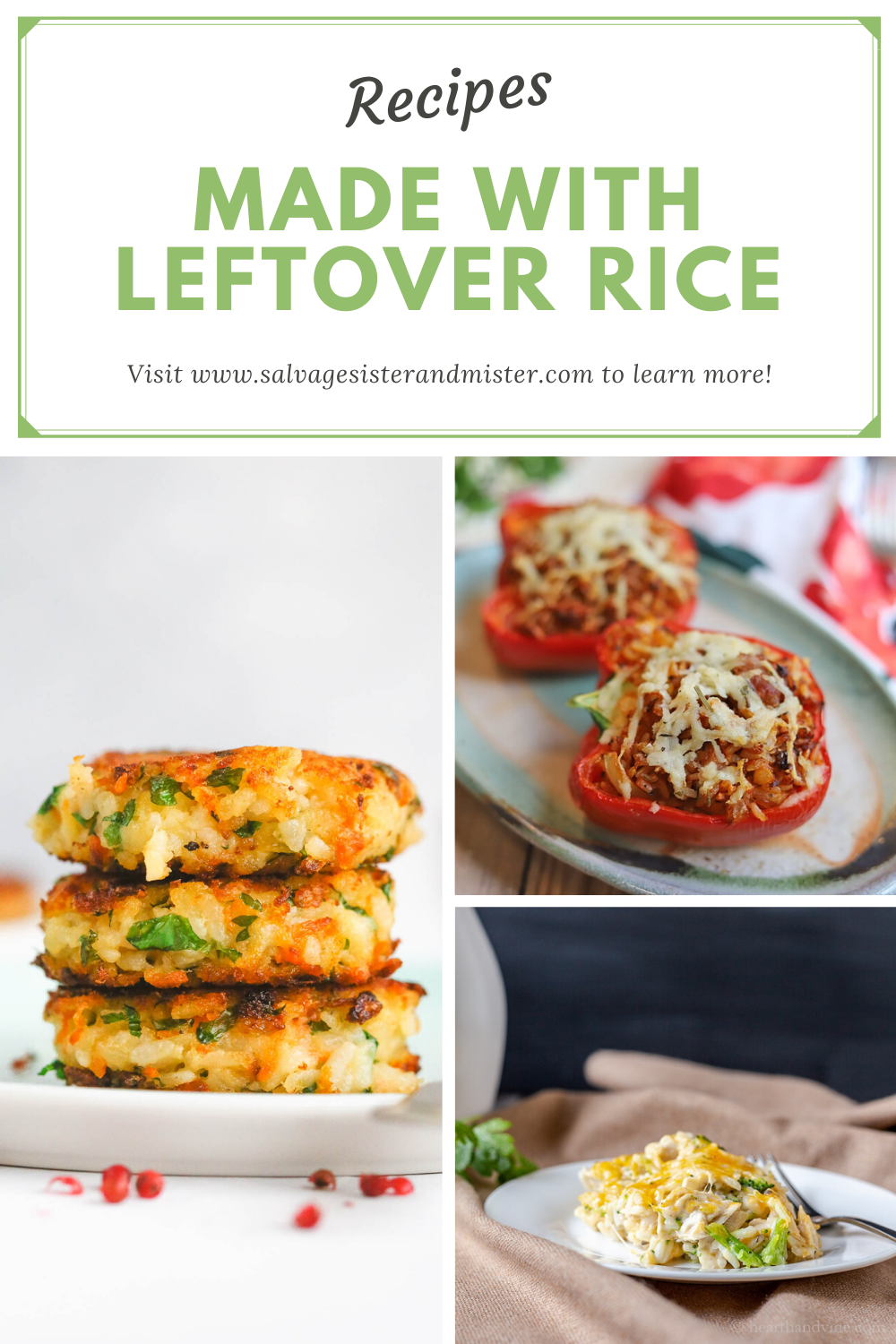 leftover rice recipes collage