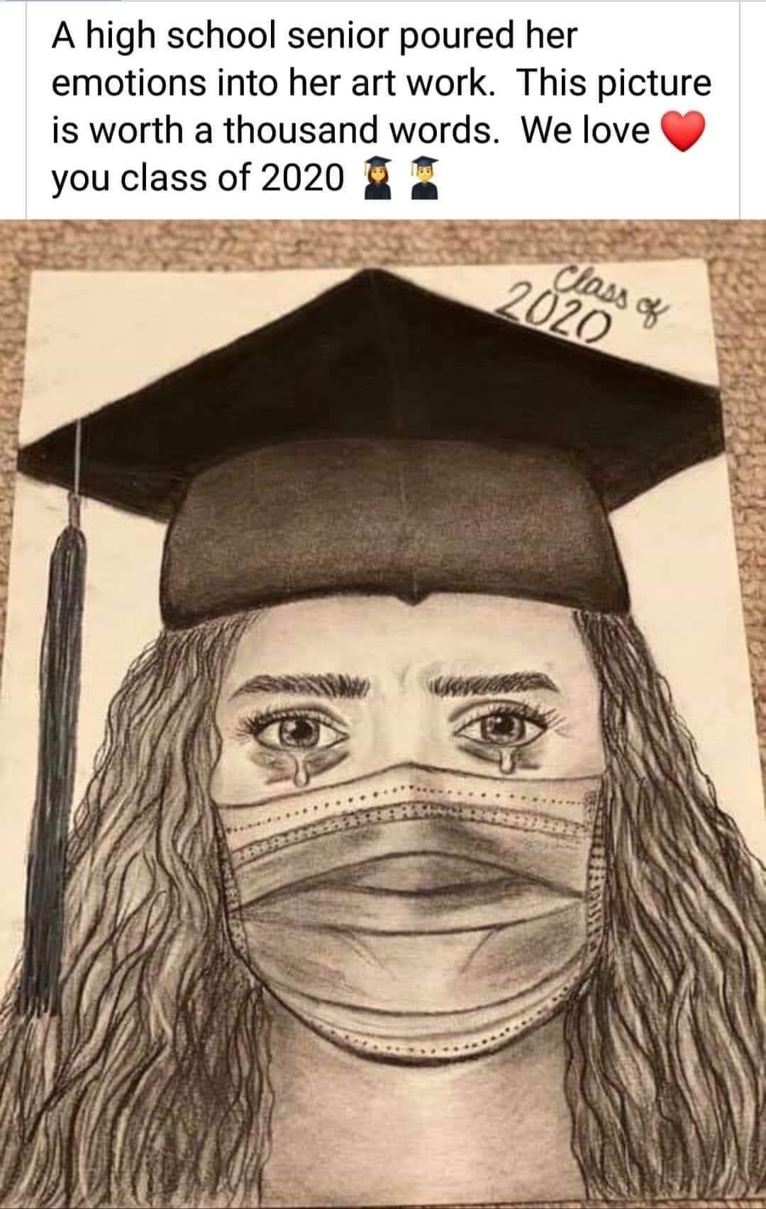 It's okay to grieve - graduate 2020