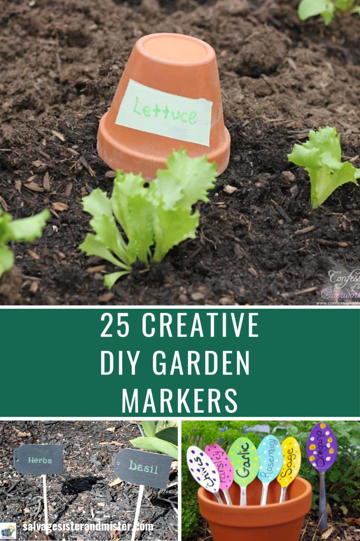 25 diy garden markers